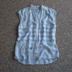 Rails sleeveless striped button down shirt top XS